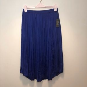 NWT Vince Camuto Pleated Midi Skirt Size S